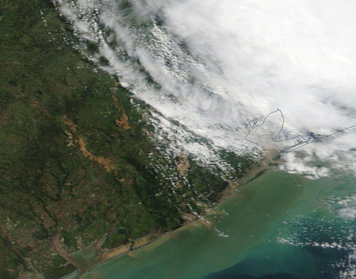 Inondations Texas - Houston - MODIS - eaux boueuses - 31 août 2017 - Terra - satellite