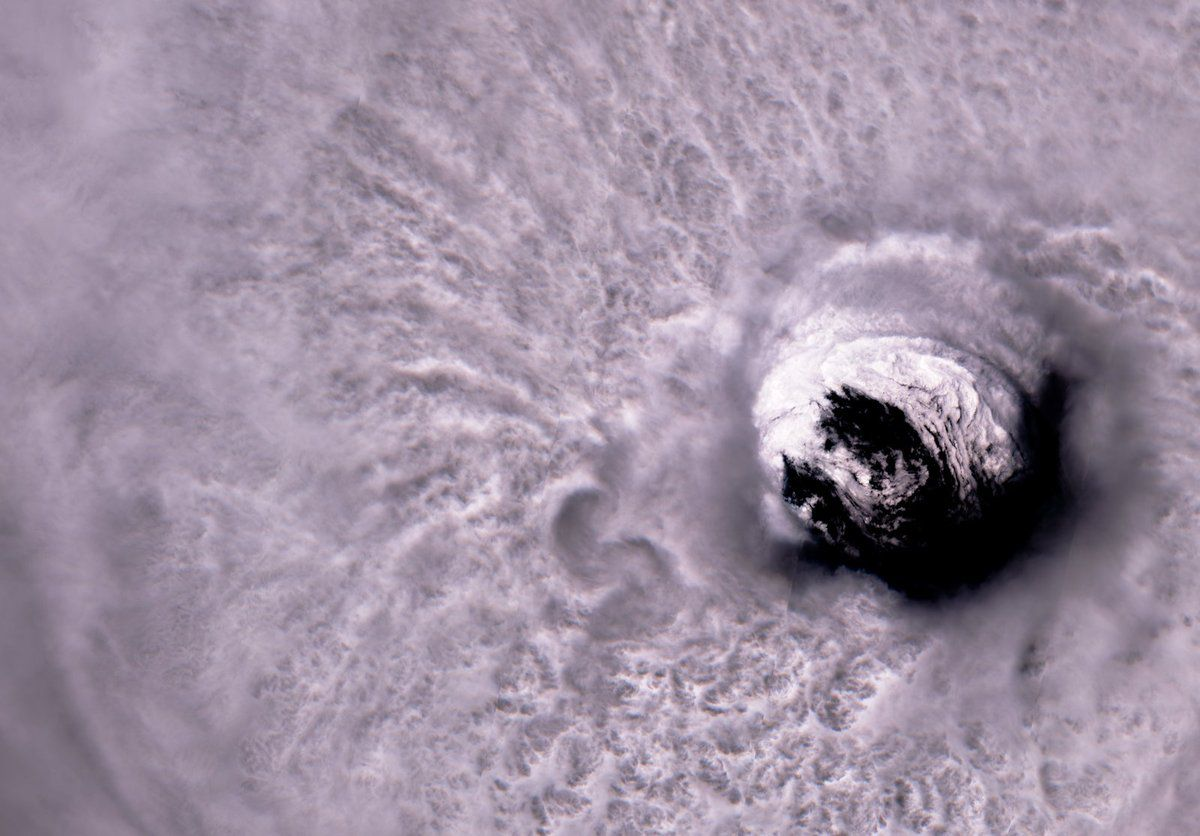 Jose - Hurricane - Ouragan - Sentinel-2A - Copernicus - Eye - Oeil - satellite - couleurs naturelles