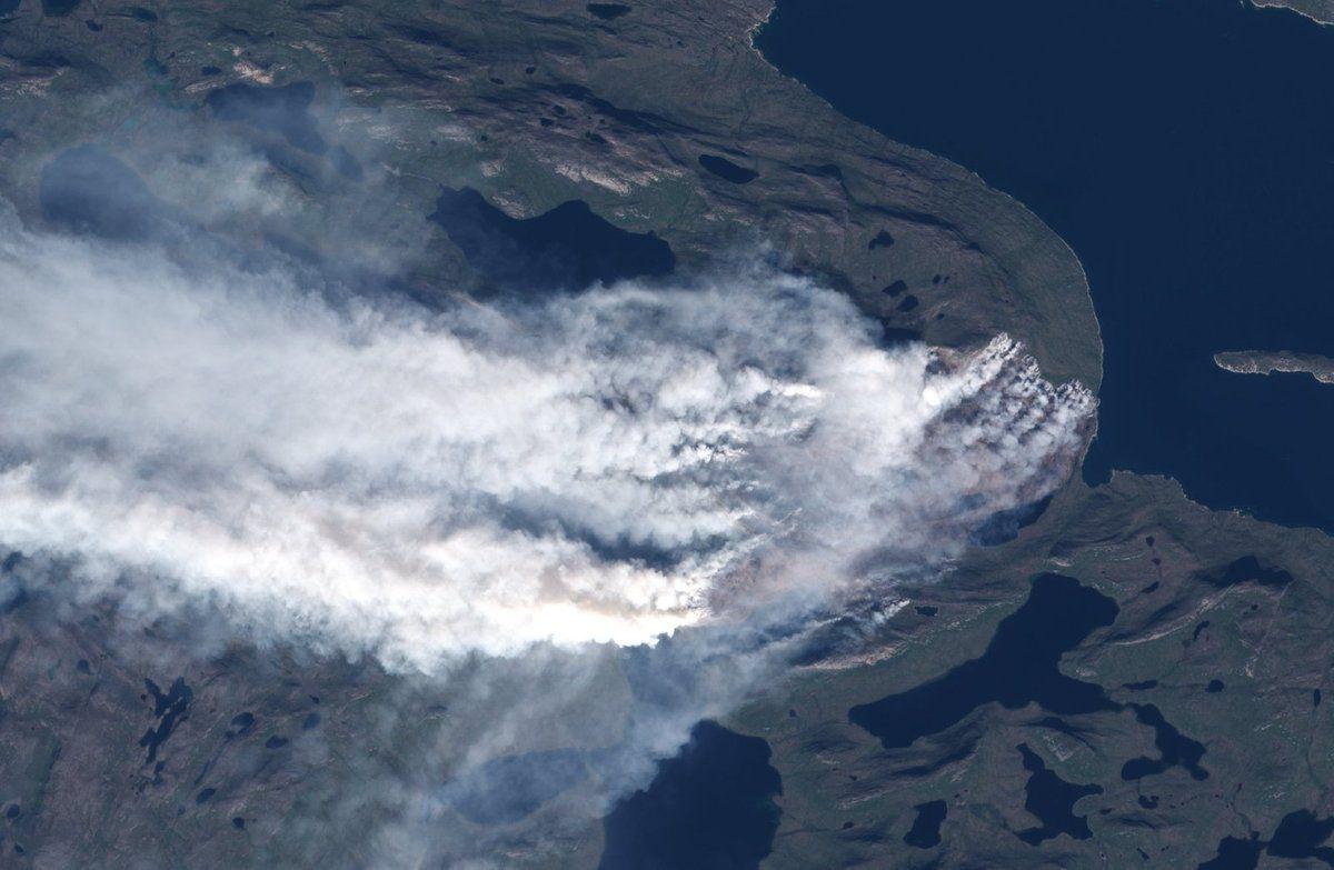 Groënland - Incendie - satellite - Sentinel-2 - Copernicus