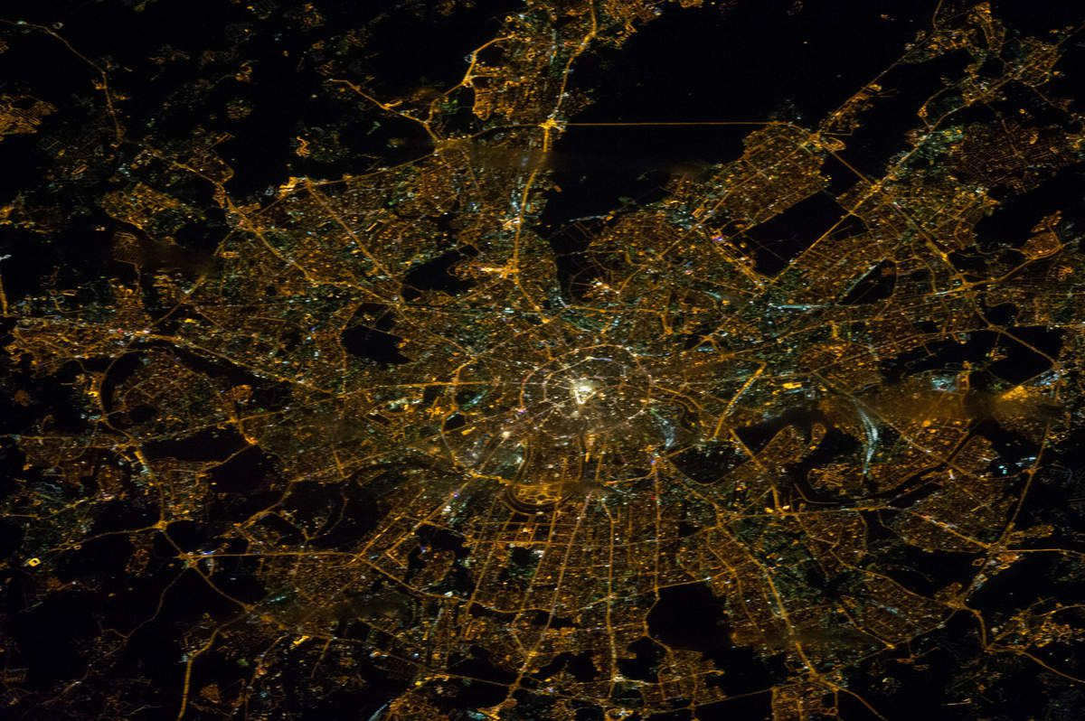 Moscou - Moscow - ISS - Expedition 38 - Moscow by night - Janvier 2014