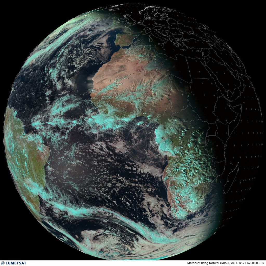 Solstice d'hiver - Winter solstice - 21 décembre 2017 - 16h00 - Eumetsat - Meteosat - satellite géostationnaire - Winter is coming - Météorologie - IMCCE