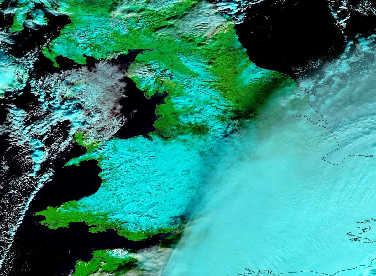 Ana - tempête - Winter storm - neige - snow - MODIS - Terra - 11 décembre 2017 - UK - Stockton-on-tees - Hartlepool - NASA - quiz décembre