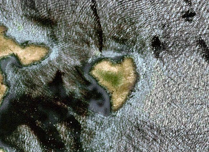 Saint-Valentin - forme de coeur - quiz - image mystère - satellite - amoureux - Le coeur dans les nuages - Troisième image