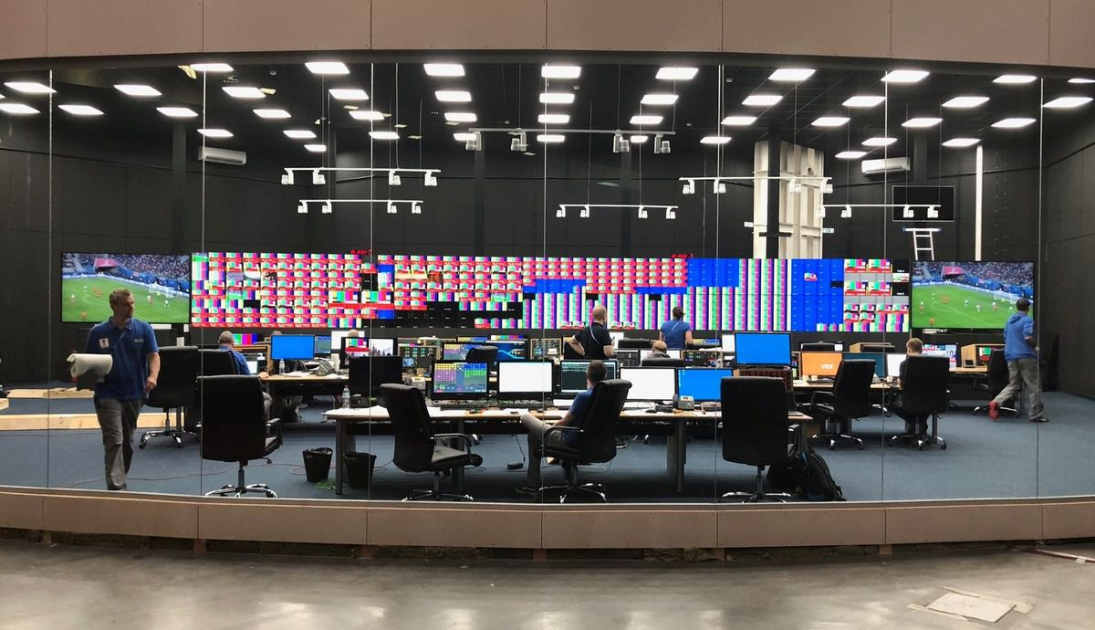 IBC - International Broadcast Centre - Moscow - Moscou - FIFA - Russia 2018 - Production TV - VAR - Feed - IBS - MCR - Master Control Room