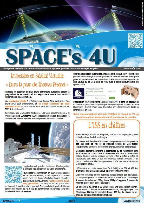 Space's 4U - Numéro 3 - Juillet-Août 2018
