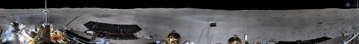 Lune - Chine - Face cachée - Chang'e-4 - Moon - Yutu 2 - China - Far side - Panorama