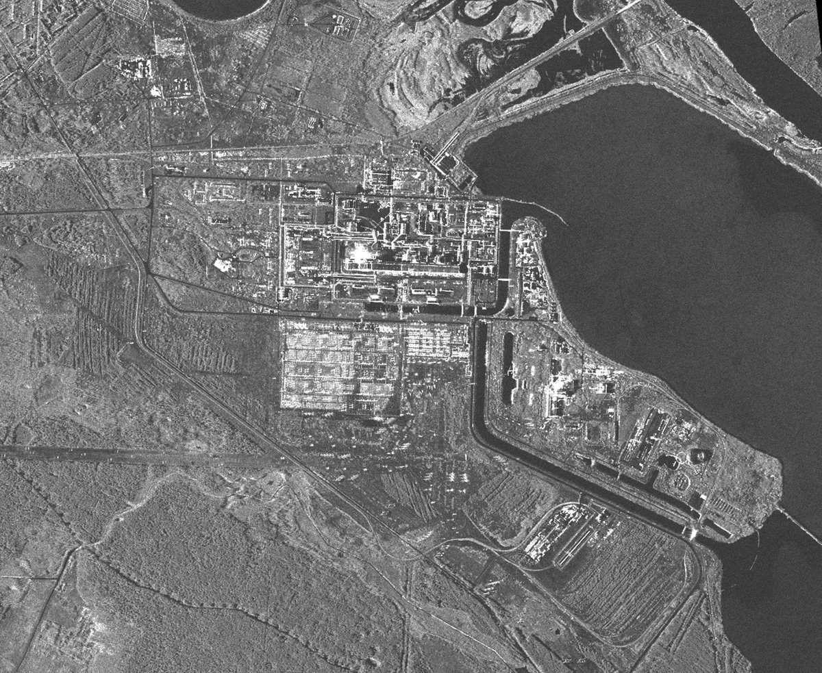 Tchernobyl - satellite TerraSAR-X - satellite radar - avril 2011 - nuclear plant - centrale nucléaire - Un autre regard sur la Terre - DLR