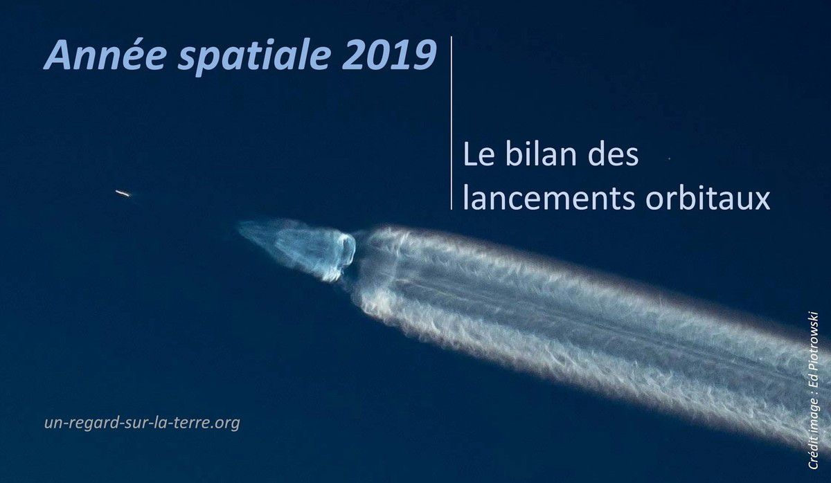 Lancements orbitaux 2019 - Bilan - Orbital launches 2019 - Launcher - Fusée - satellite - Mass - Orbit - Pays lanceurs - Spacefairing nation