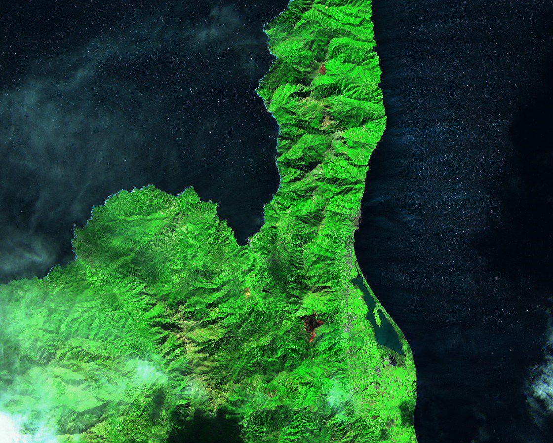Tempête Ciara - Corse - Incendie - Cap Corse - Sentinel-2 - Olmeta di Tuda - Pietracorbara - Copernicus - satellite - fire - feux