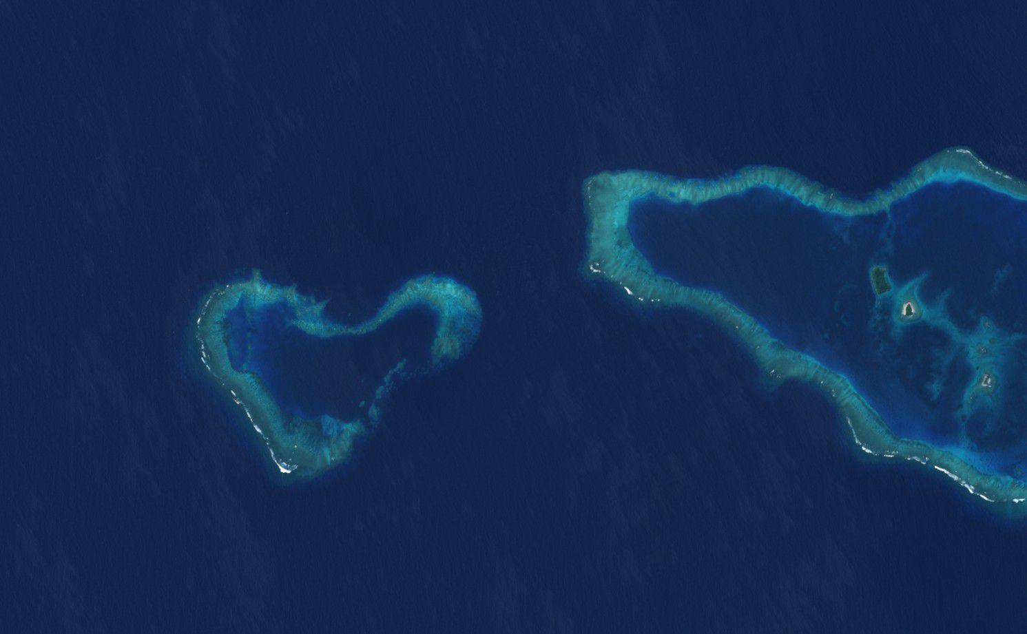 Saint-Valentin - île en forme de coeur - Fidji - satellite - Sentinel-2 - Copernicus - espace - Earth observation
