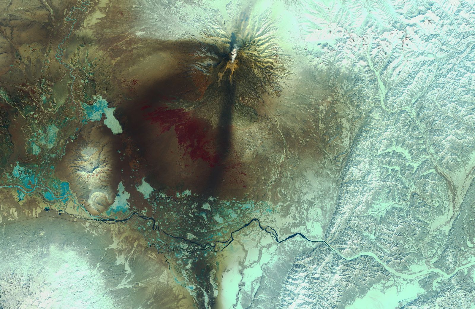 Kamtchatka - Volan Chiveloutch - Eruption - Satellite - Sentinel-2 - Copernicus - ESA - Volcano - Avril 2019