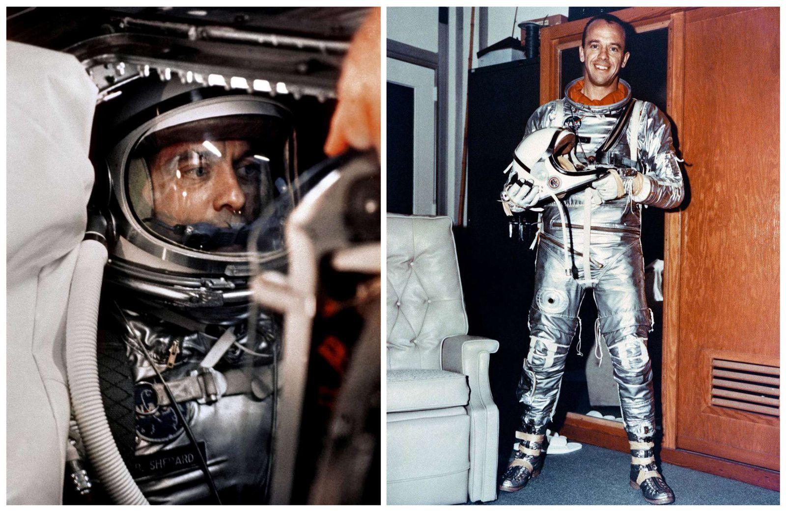 Alan B. Shepard - Mercury - Freedom 7 - Mercury-Redstone - Premier américain dans l'espace - 5 mai 1961 - NASA - L'étoffe des héros