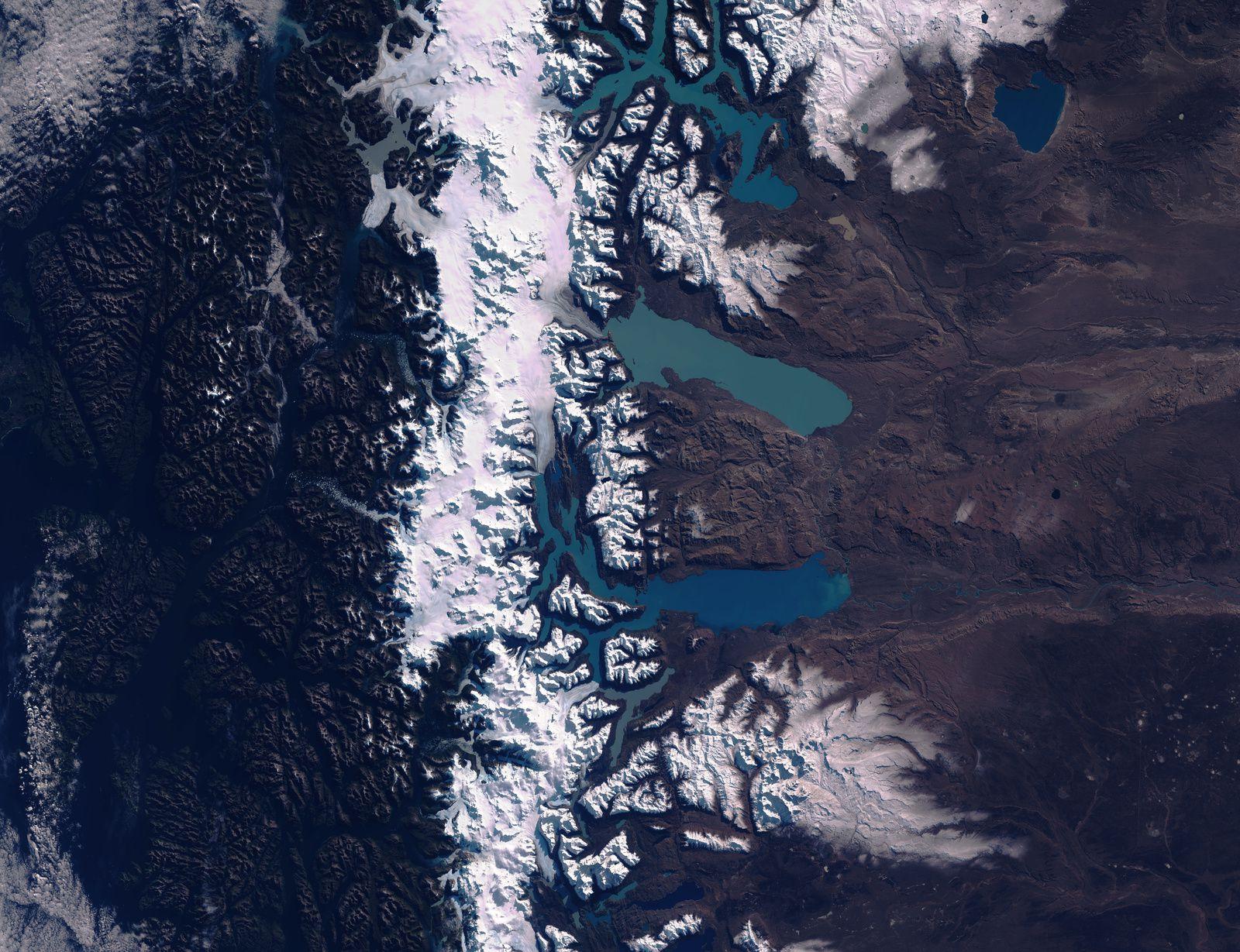 Sentinel-2 - Sentinel-2B - Copernicus - Argentine - Lago Viedma - Lago Argentino - 5 et 12 mai 2020 - Observation de la Terre