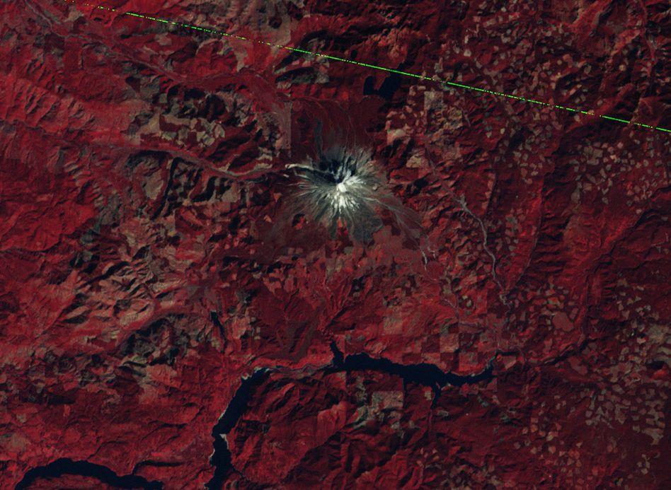 Mount St Helens - Avant éruption - Before eruption - Landsat 3 - MSS - USGS - 9 octobre 1979