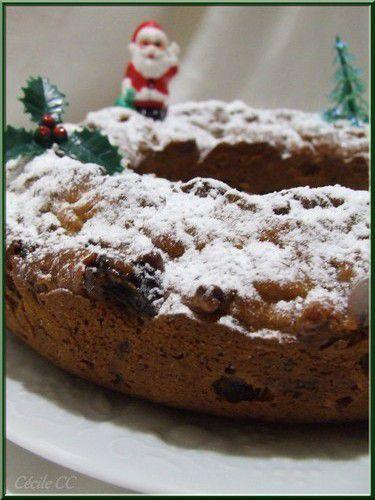 Gâteau de Noël aux fruits secs et aux fruits confits...