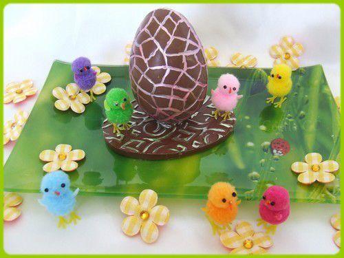 Tutoriel oeuf en chocolat en 3D et mise à l'honneur...