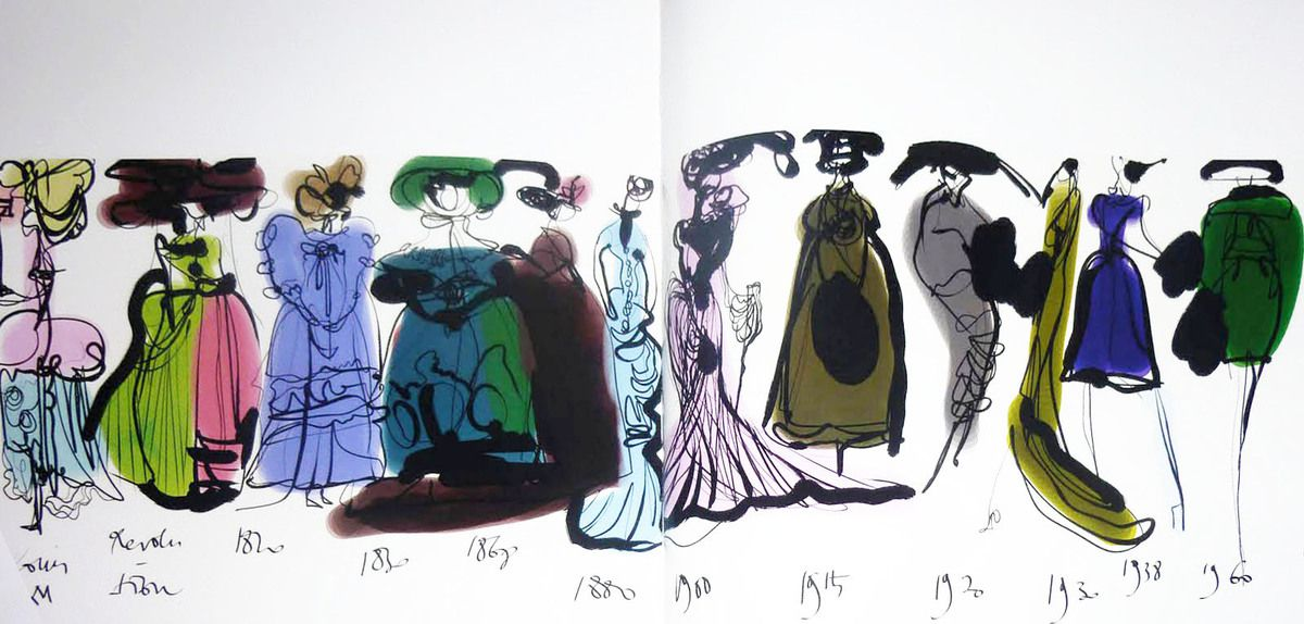 A MASTER OF FASHION & ILLUSTRATION / MONSIEUR CHRISTIAN LACROIX SKETCHES