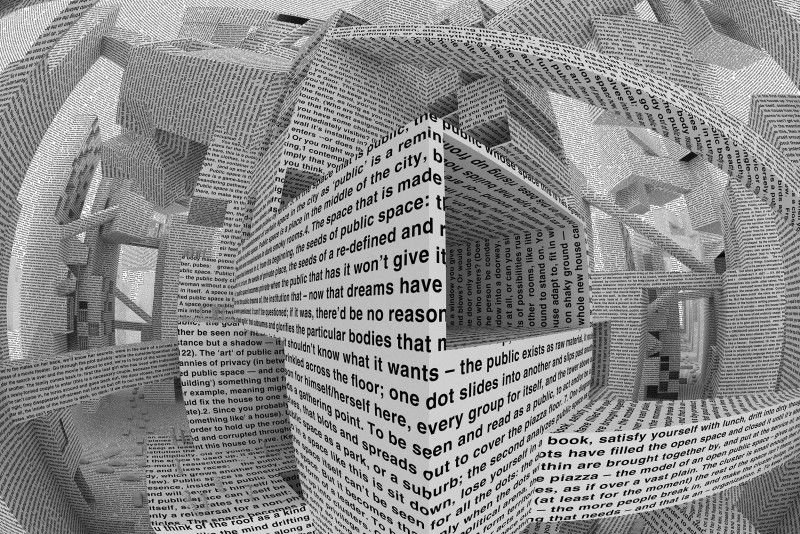 On pictures : Untitled (subjective and sign interior), 2014 Matt Mullican  //  City of Words 2010 by Vito Acconci Maharam