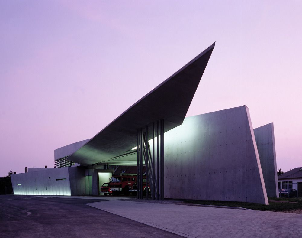 Vitra Fire Station, Weil am Rhein, Germany by Zaha Hadid : photo (c) Christian Richters