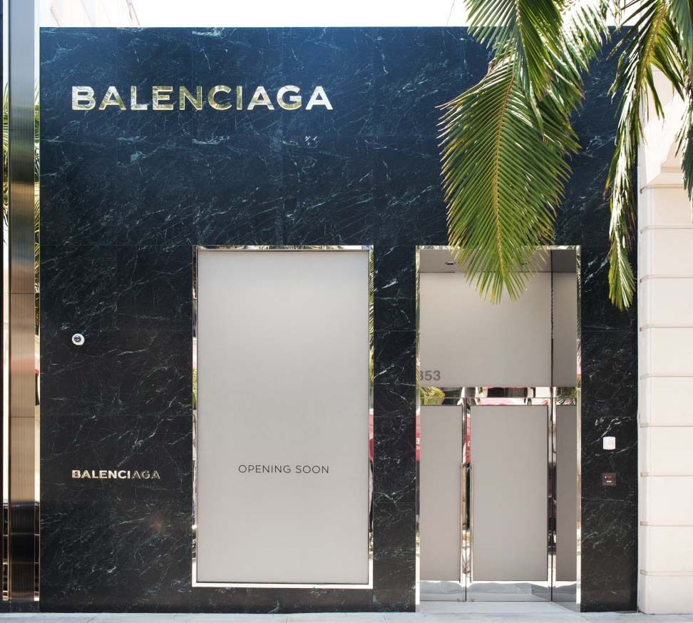 BALENCIAGA STORE IN RODEO DRIVE / BEVERLY HILLS