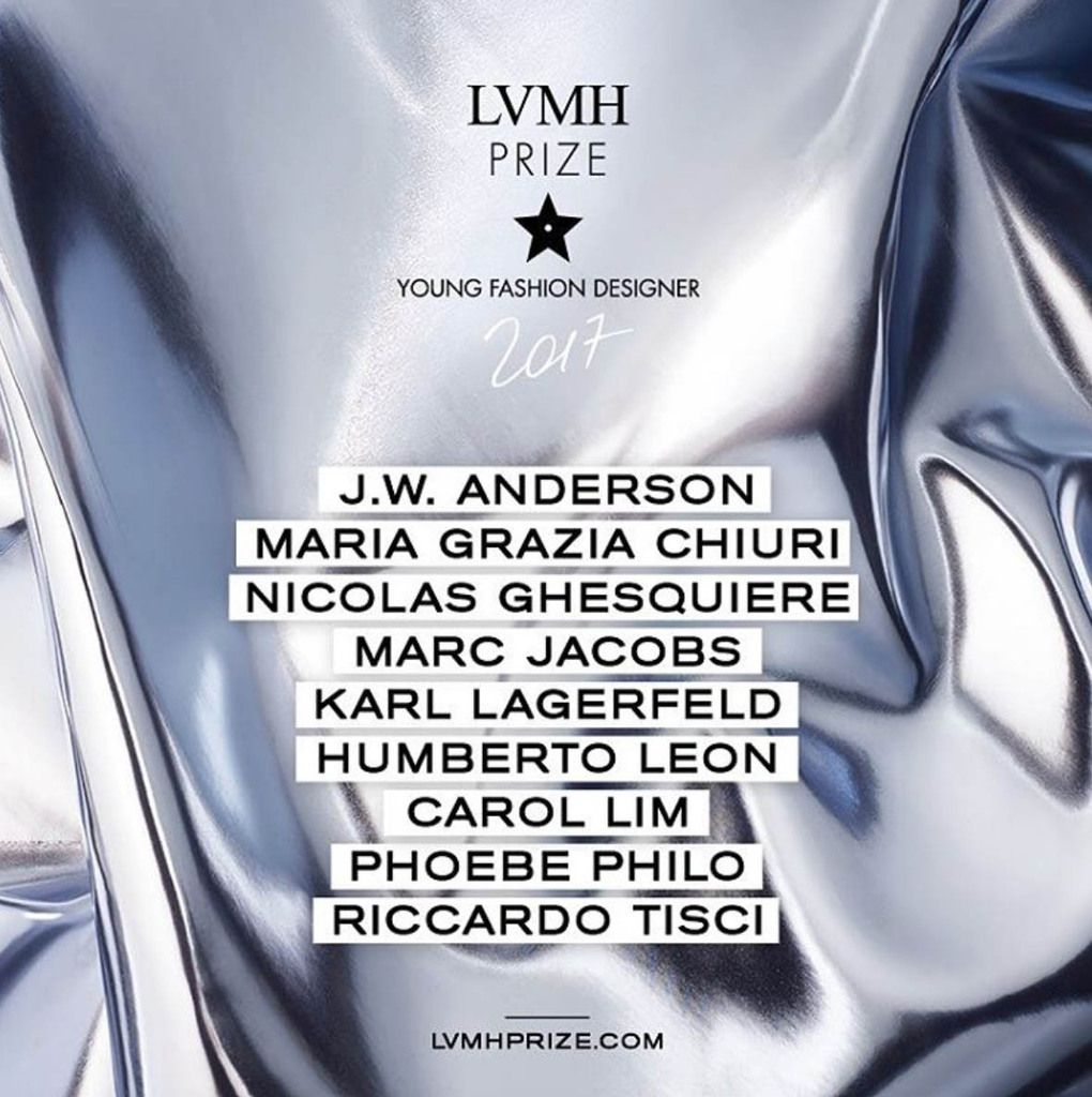 SUBMISSIONS FOR THE LVMH PRIZE 2017 ARE OPEN !
