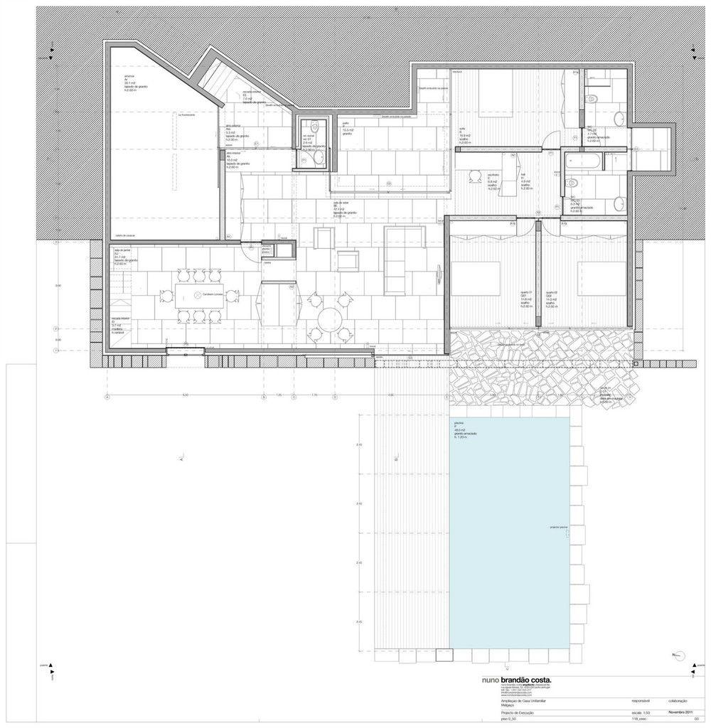 Technical Plans (c) Nuno Brandao Costa Architect