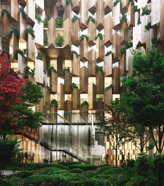 KENGO KUMA ASSOCIATES AND MARCHI ARCHITECTS PROJECT, HOTEL T5B ZAC PARIS RIVE GAUCHE