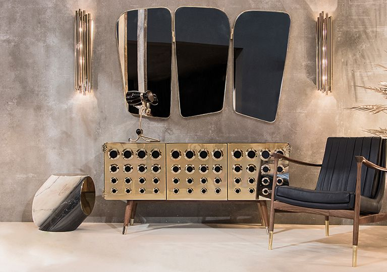 Wilde Vanity wall mirror ( by Essential Home ) & Brubeck wall light ( by DelightFull )