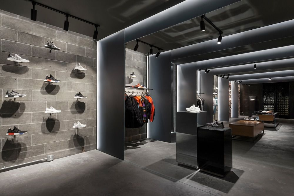 ADIDAS x CNCPTS Sanctuary boutique on Newbury St. in Boston.