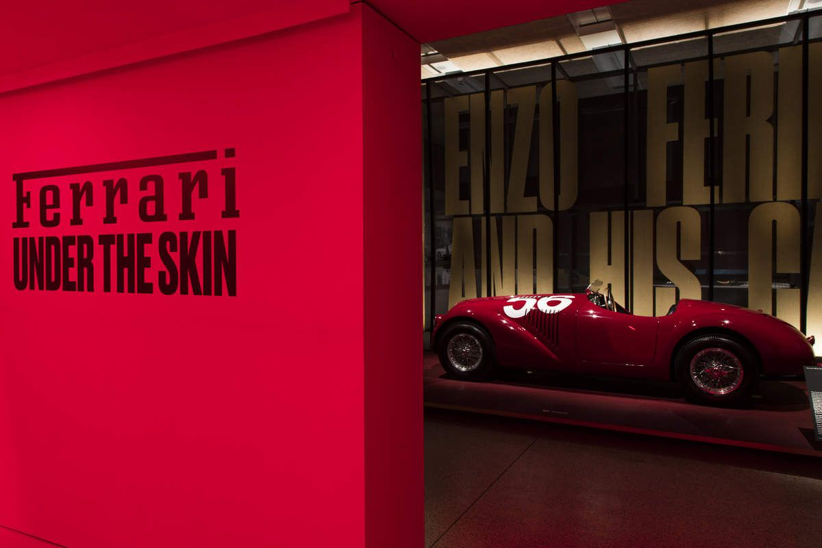 Ferrari 'Under the skin' exhibition at the Design Museum, London.