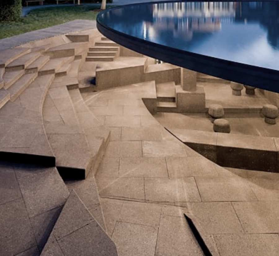 Architecture: Serpentine Gallery Pavilion by Herzog & DeMeuron with interior floor in Cork