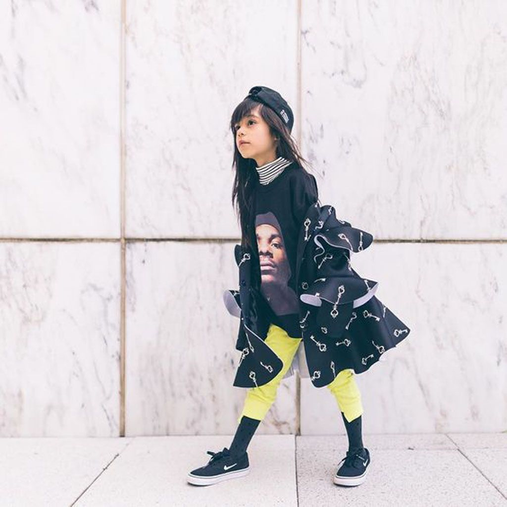 LIL GIANA, A COOL STYLISH KID PLAYING WITH FASHION, STYLE AND ART, ONE TO WATCH !