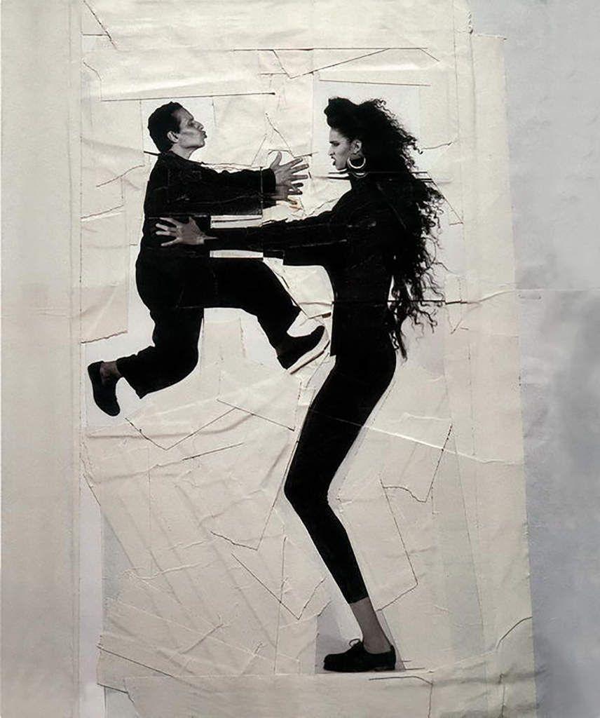 Azzedine Alaïa et Farida Khelfa, 1984 photo by Jean-Paul Goude