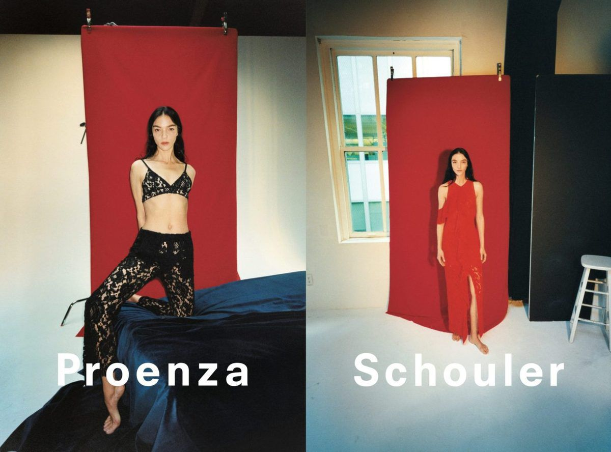 PROENZA SCHOULER SPRING 2018 ADV CAMPAIGN WITH MARIACARLA BOSCONO CAPTURED BY TYRONE LEBON