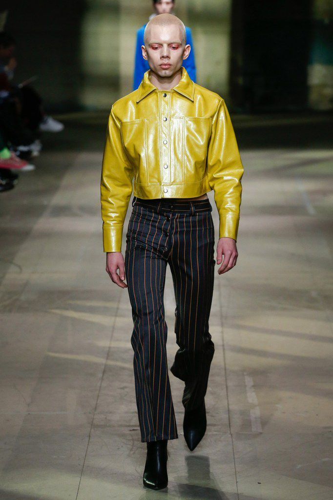 MAN FALL WINTER 2018 MENSWEAR COLLECTIONS OF ART SCHOOL, ROTTINGDEAN AND STEFAN COOKE  AT LFW