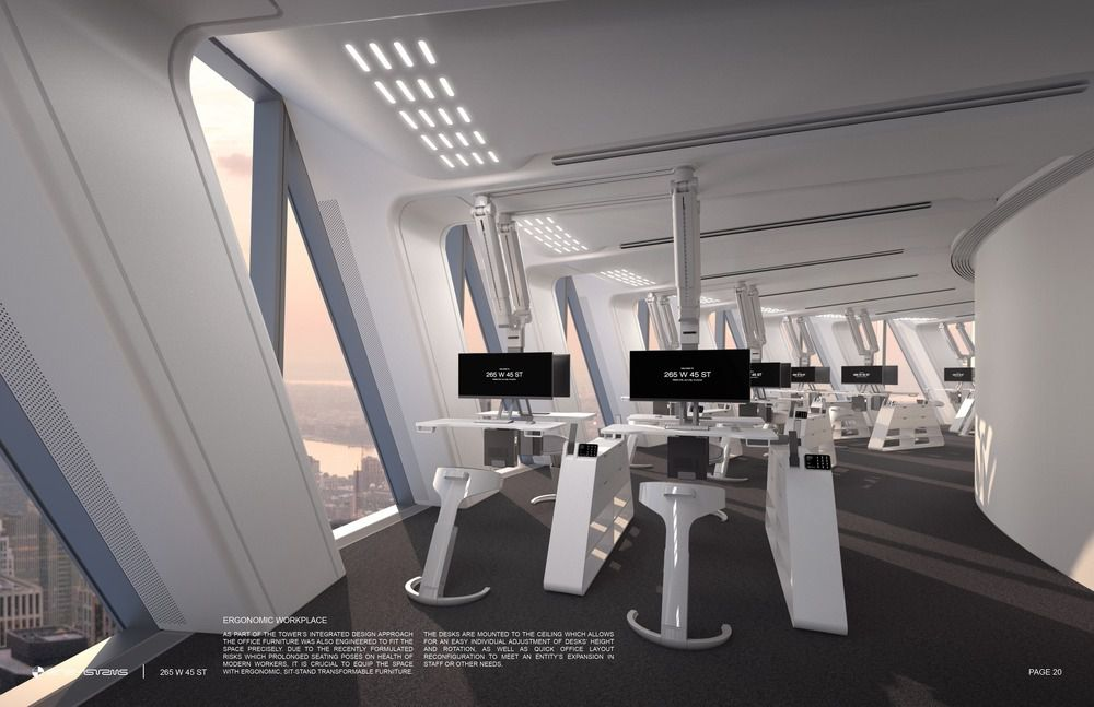 265 WEST 45TH STREET OFFICE TOWER IN NEW YORK BY RB SYSTEMS ( RUSTEM BAISHEV ARCHITECT )