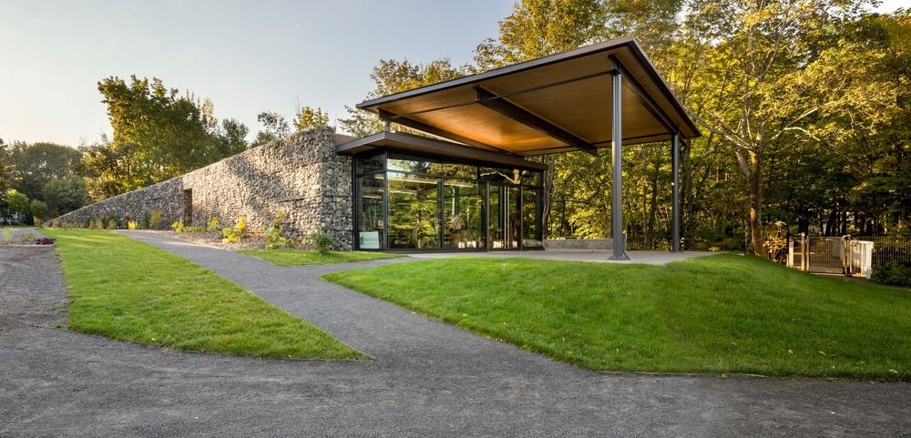 NATURE, ARCHITECTURE AND HERITAGE IN HARMONY: LANDSCAPE PAVILION IN ST ROCH DES AULNAIES, CANADA BY ANNE CARRIER ARCHITECTURE