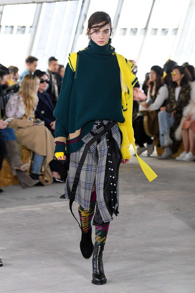 SACAI FALL WINTER 2018 19 WOMENSWEAR RTW COLLECTION AT PARIS FASHION WEEK