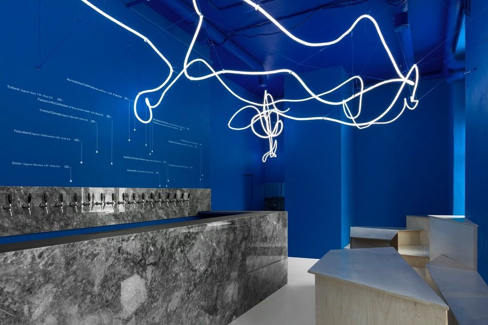 GALAXY BAR AND BOTTLE SHOP REDESIGNED BY MONOLOKO DESIGN IN MOSKVA, RUSSIA
