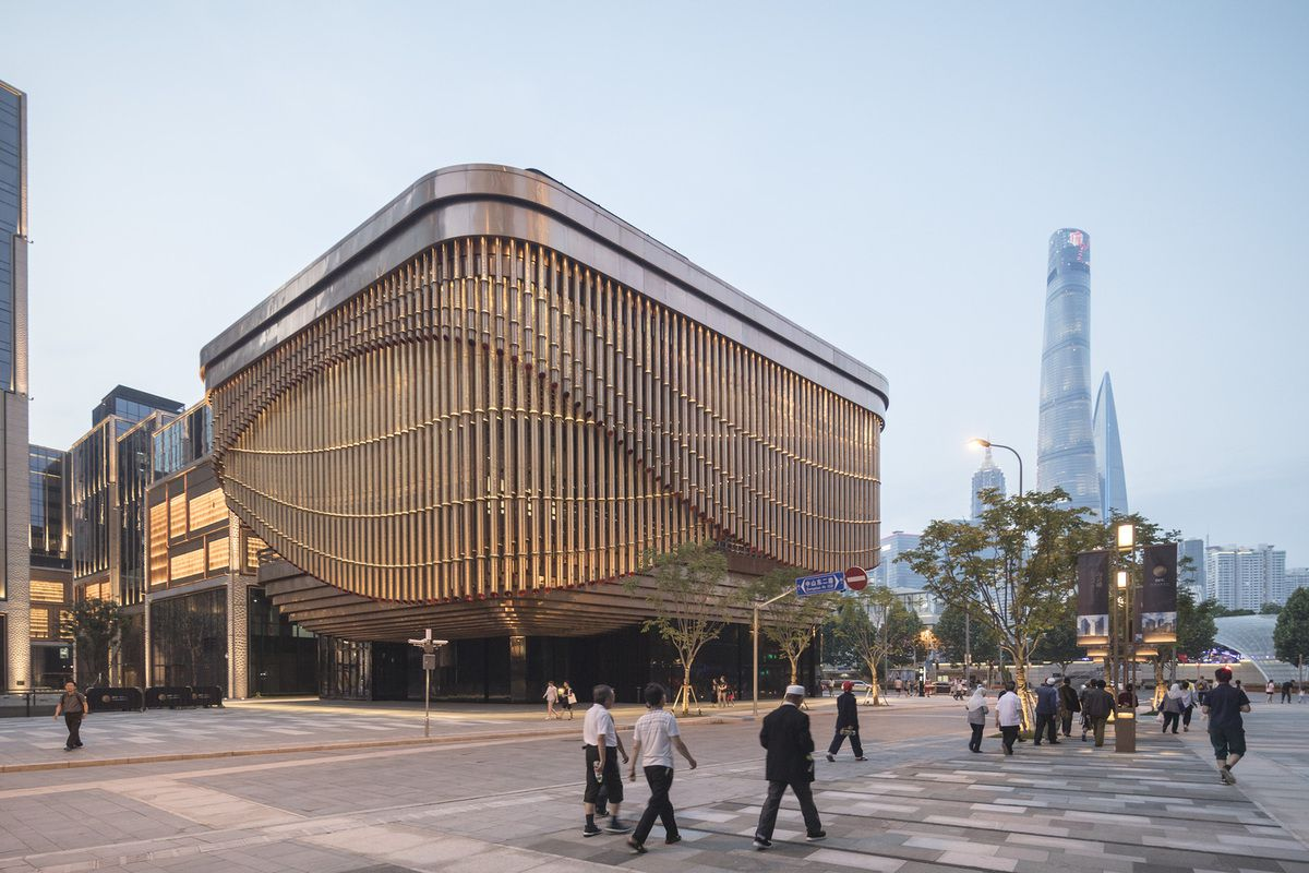 FOSUN FOUNDATION (SHANGHAI) LOCATED IN THE BUND FINANCE CENTER AND DESIGNED BY FOSTER AND PARTNERS, HEATHERWICK STUDIO