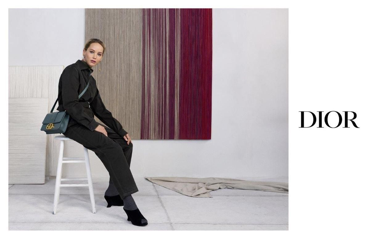 ACTRESS JENNIFER LAWRENCE IN CHRISTIAN DIOR PRE FALL 2019 AD CAMPAIGN