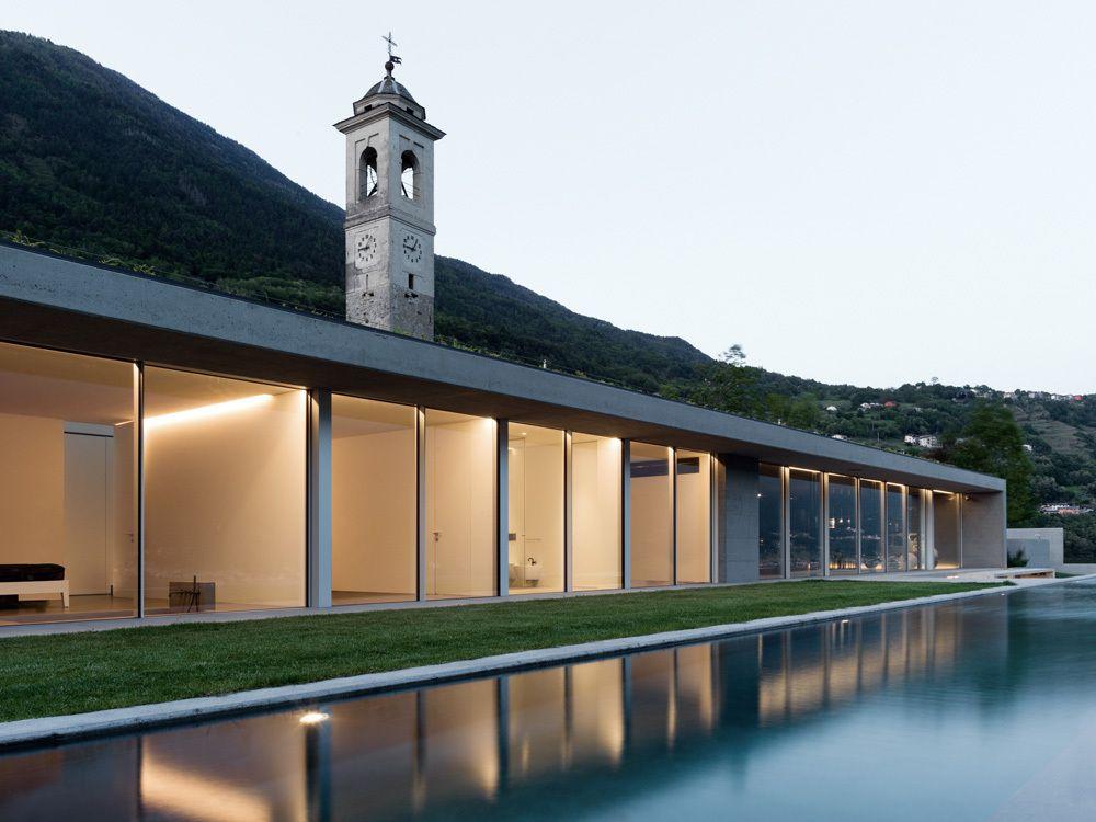 CASA G DESIGNED BY ALFREDO VANOTTI IN SONDRIO, ITALY