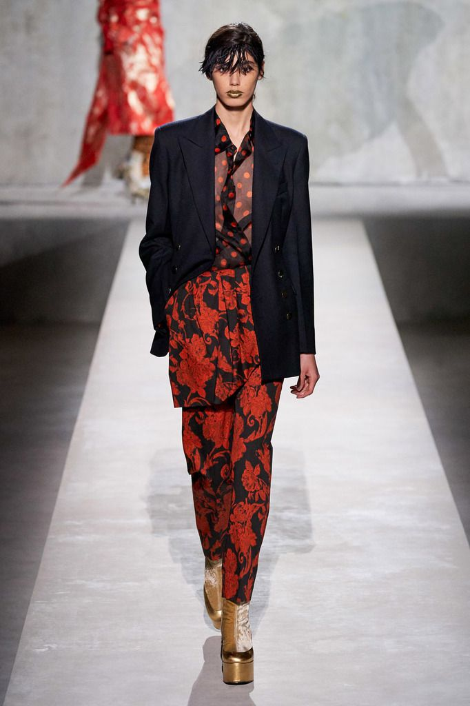 DRIES VAN NOTEN WIH MONSIEUR CHRISTIAN LACROIX FOR SPRING /SUMMER 2020 RTW COLLECTION PRESENTED AT PARIS FASHION WEEK