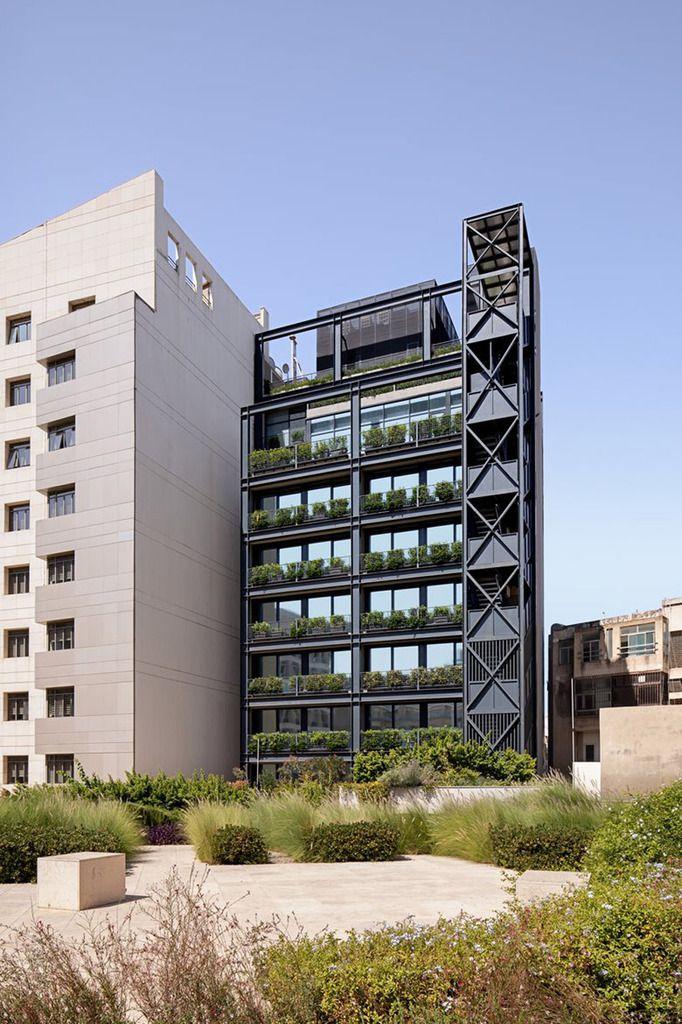 BANQUE DU LIBAN CMA BUILDING BY KARIM NADER STUDIO  AND BLANKPAGE ARCHITECTS