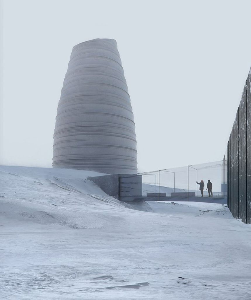 DISCOVER THE VISITOR CENTER FOR ARCTIC PRESERVATION STORAGE CALLED 'THE ARC' BY SNØHETTA DESIGN.