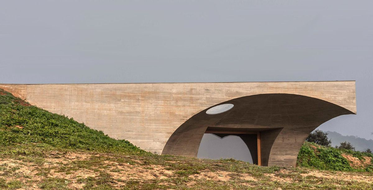 THE INVISIBLE HOUSE IN MONSARAZ, PORTUGAL BY AIRES MATEUS ARCHITECTS