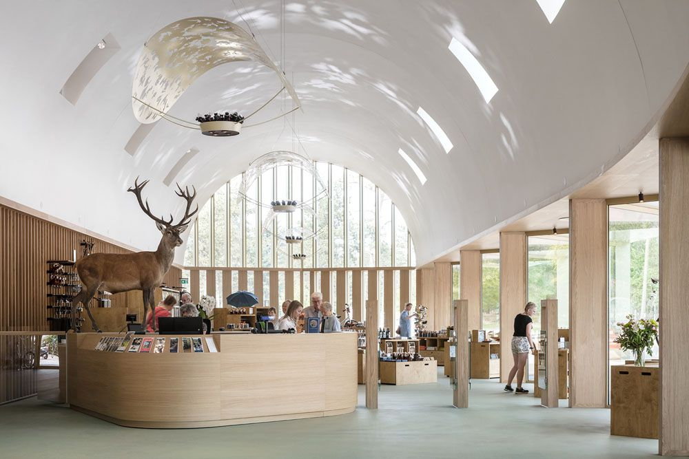 THE NEW PARK PAVILION IN THE HOGE VELUWE NATIONAL PARK, DESIGNED BY DE ZWARTE HOND AND MONADNOCK