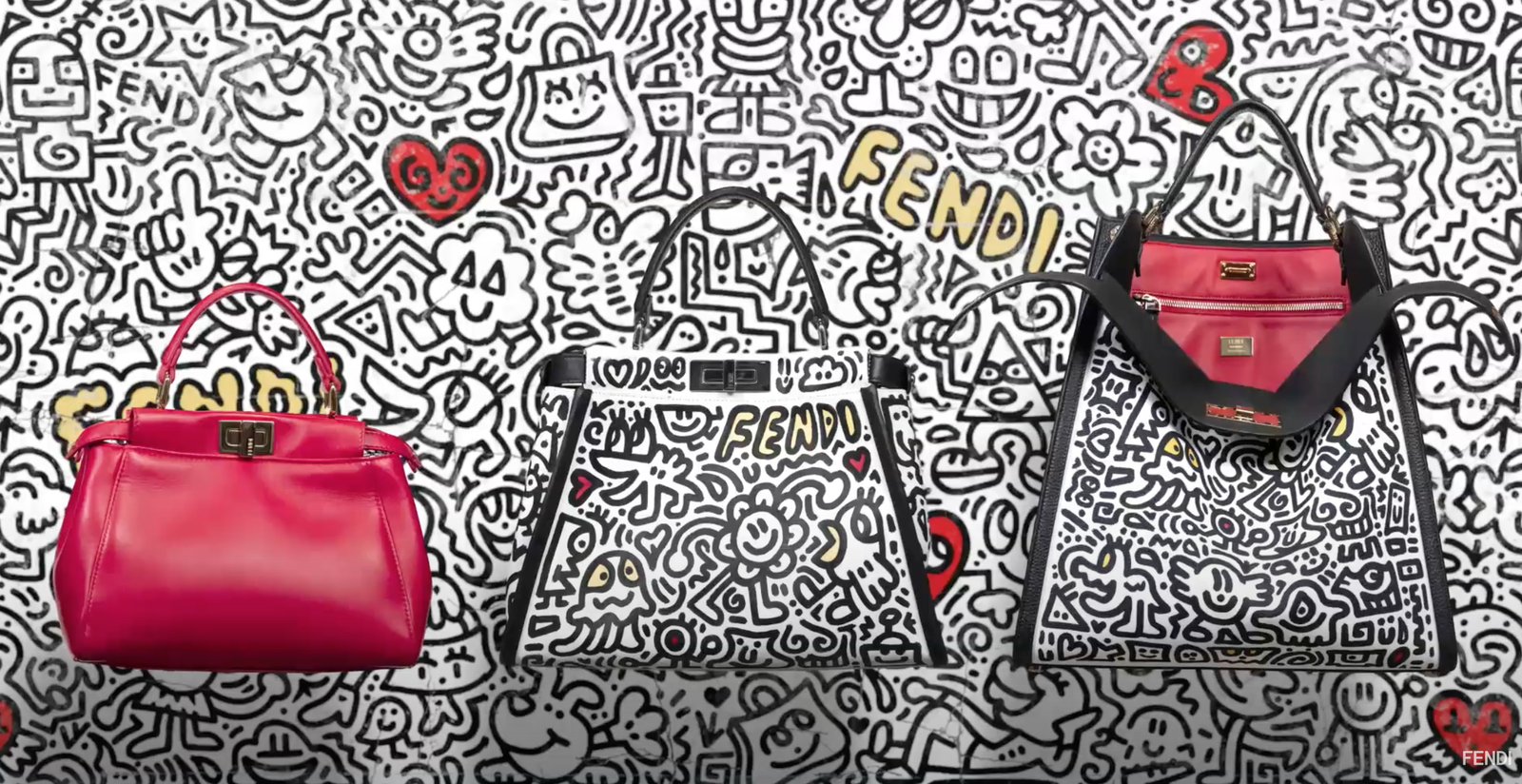 FENDI LAUNCHES A CAPSULE COLLECTION, FOR THE CHINESE VALENTINE'S DAY, IN COLLABORATION WITH SAM COX AKA MR. DOOODLE