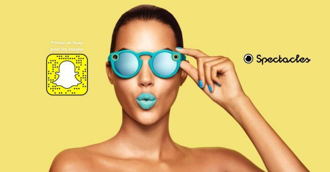 SPECTACLES : les lunettes connectées de SNAPCHAT