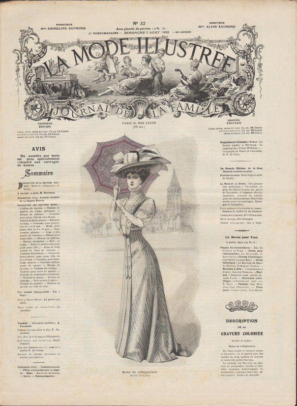 mode illustrée 1908